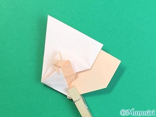 折り紙で立体的な羊の折り方手順65
