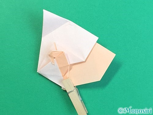 折り紙で立体的な羊の折り方手順67