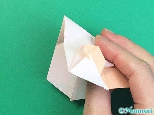 折り紙で立体的な羊の折り方手順68