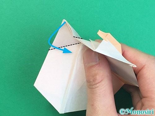 折り紙で立体的な羊の折り方手順69