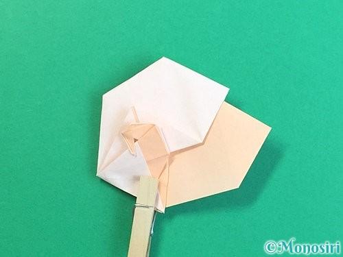 折り紙で立体的な羊の折り方手順71