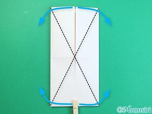 折り紙で立体的な羊の折り方手順76