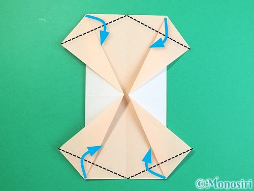 折り紙で立体的な羊の折り方手順78