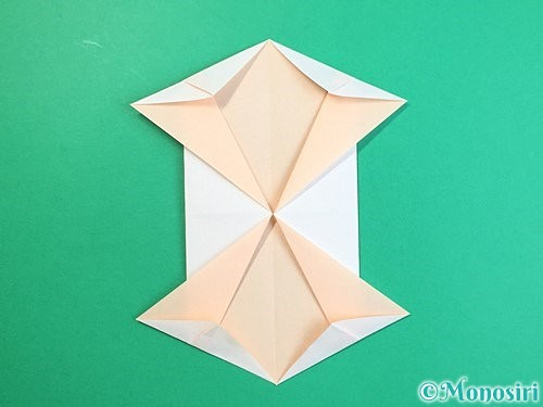 折り紙で立体的な羊の折り方手順79