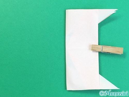 折り紙で立体的な羊の折り方手順83