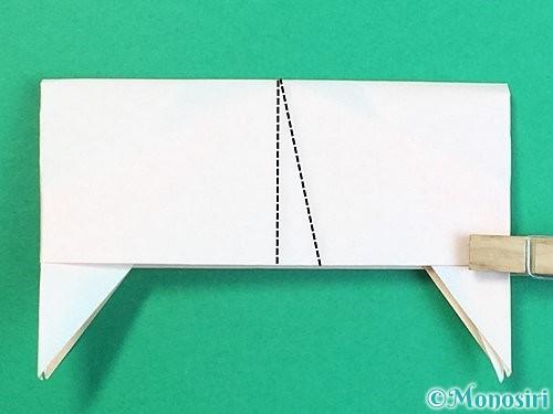 折り紙で立体的な羊の折り方手順84