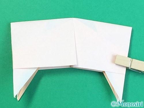 折り紙で立体的な羊の折り方手順88