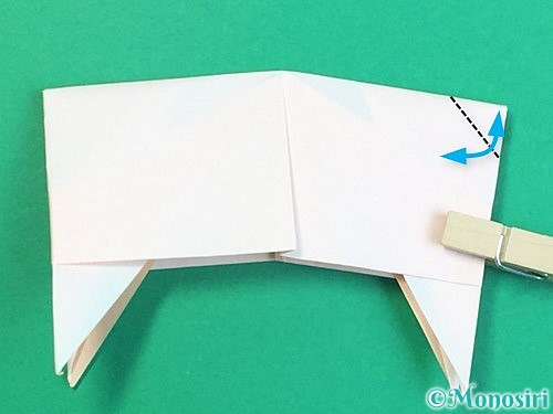 折り紙で立体的な羊の折り方手順89