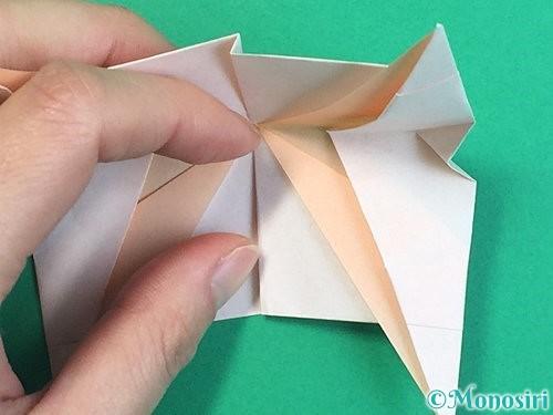折り紙で立体的な羊の折り方手順93