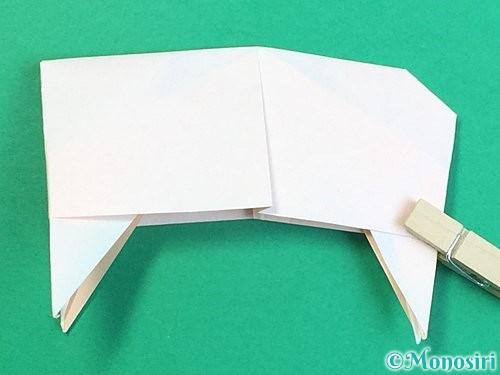 折り紙で立体的な羊の折り方手順94