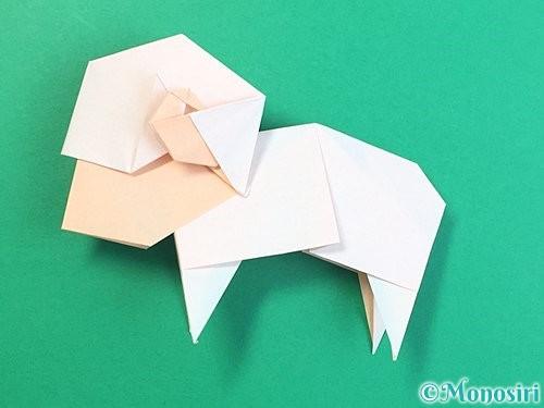 折り紙で立体的な羊の折り方手順95