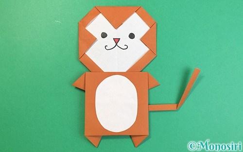 折り紙で折った猿