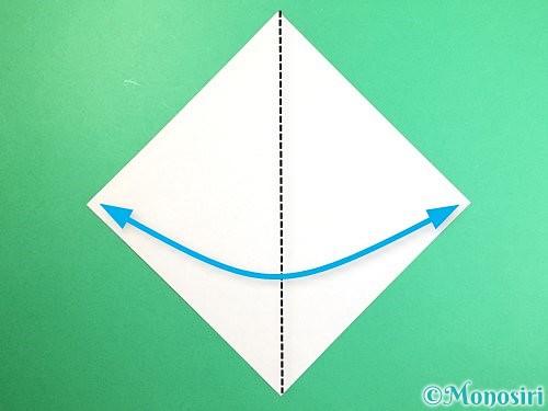 折り紙で立体的な猿の折り方手順1