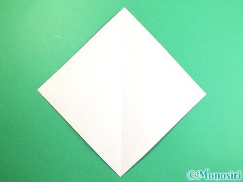 折り紙で立体的な猿の折り方手順2