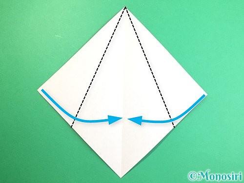 折り紙で立体的な猿の折り方手順3