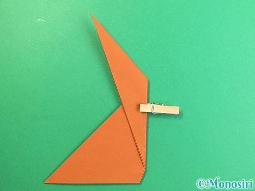折り紙で立体的な猿の折り方手順9