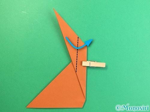 折り紙で立体的な猿の折り方手順10
