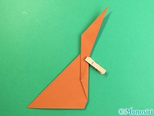 折り紙で立体的な猿の折り方手順11