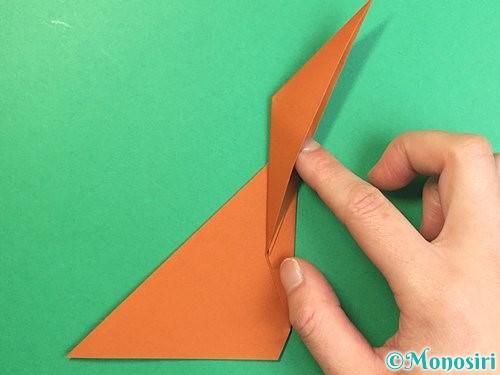 折り紙で立体的な猿の折り方手順12