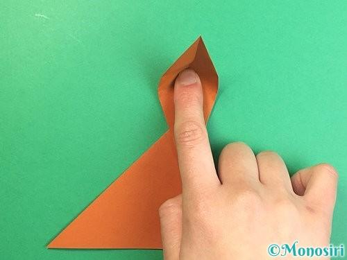 折り紙で立体的な猿の折り方手順13