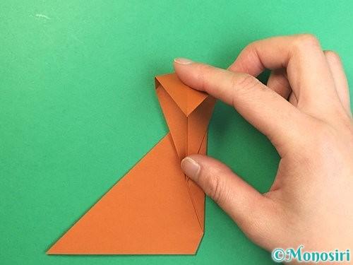 折り紙で立体的な猿の折り方手順14