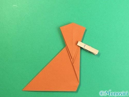 折り紙で立体的な猿の折り方手順15