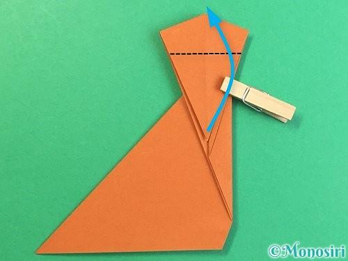 折り紙で立体的な猿の折り方手順16