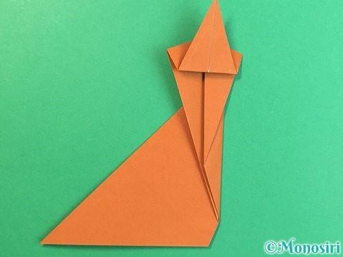 折り紙で立体的な猿の折り方手順17
