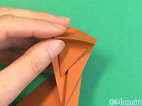折り紙で立体的な猿の折り方手順22