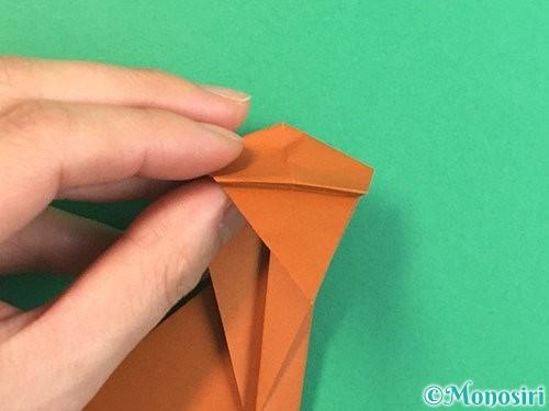 折り紙で立体的な猿の折り方手順23