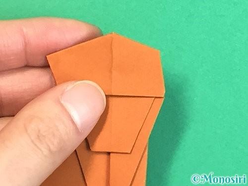 折り紙で立体的な猿の折り方手順28
