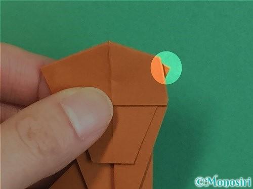 折り紙で立体的な猿の折り方手順29