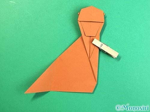 折り紙で立体的な猿の折り方手順32