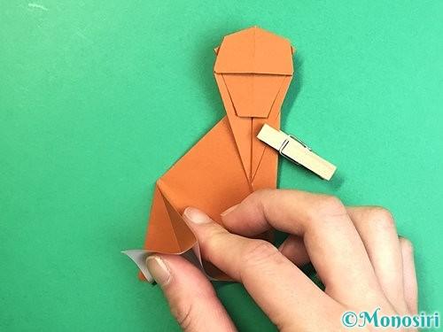 折り紙で立体的な猿の折り方手順38