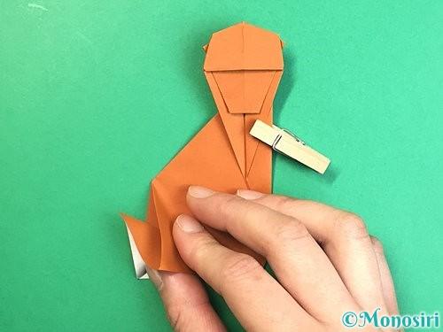 折り紙で立体的な猿の折り方手順39