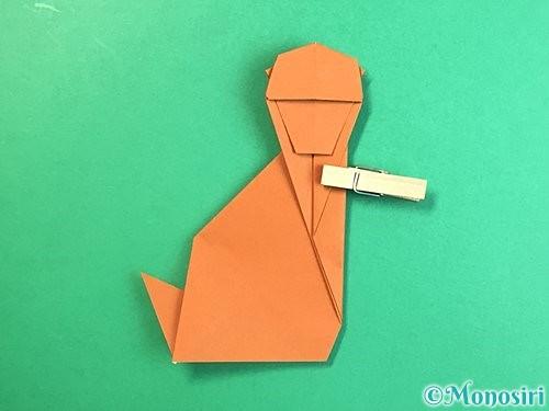 折り紙で立体的な猿の折り方手順40