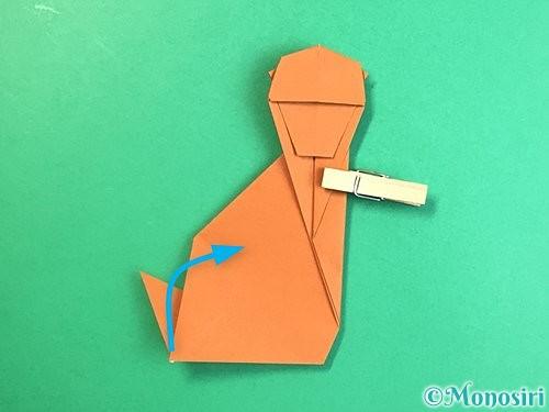 折り紙で立体的な猿の折り方手順41