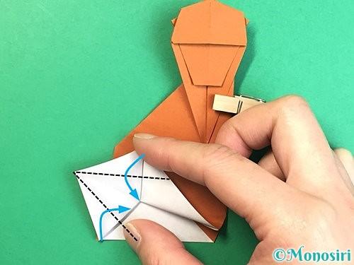 折り紙で立体的な猿の折り方手順43
