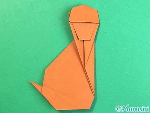折り紙で立体的な猿の折り方手順46