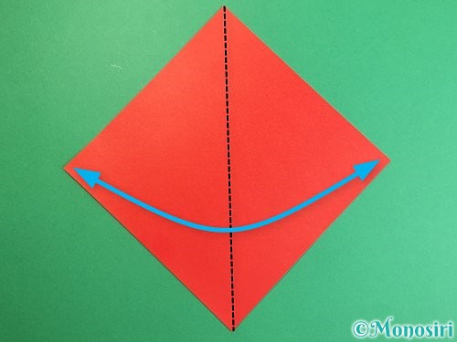 折り紙でにわとりの折り方手順1