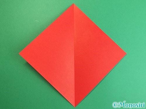 折り紙でにわとりの折り方手順2