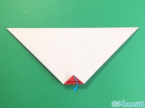 折り紙でにわとりの折り方手順8