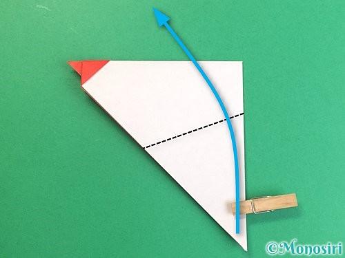 折り紙でにわとりの折り方手順12