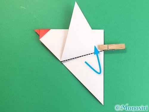 折り紙でにわとりの折り方手順14