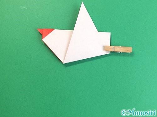 折り紙でにわとりの折り方手順15