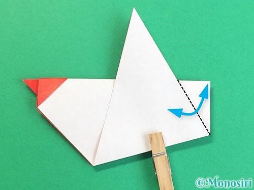 折り紙でにわとりの折り方手順16