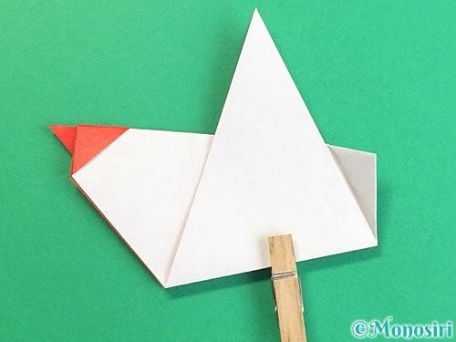 折り紙でにわとりの折り方手順17