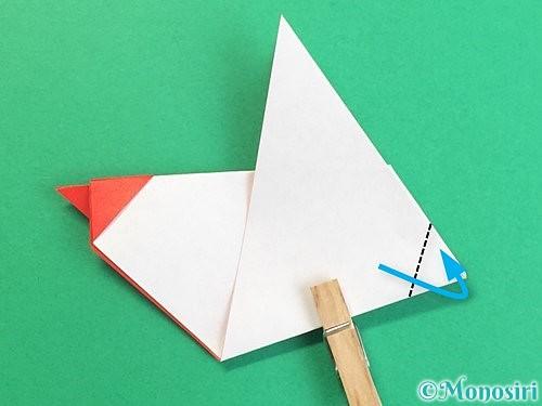 折り紙でにわとりの折り方手順22