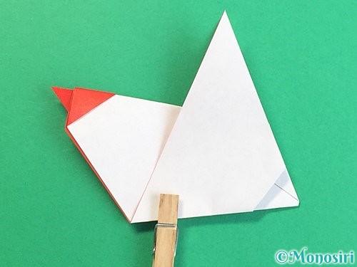 折り紙でにわとりの折り方手順23
