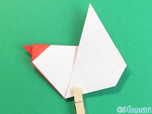 折り紙でにわとりの折り方手順24